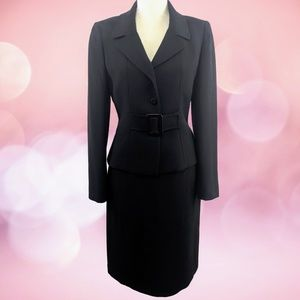 Tahari Arthur S. Levine Black Skirt Suit Set 4